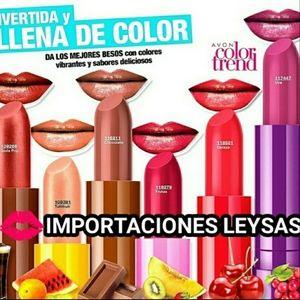 AVON COLOR TREND POP LOVES 6 LIPSTICKS DE FRUTAS